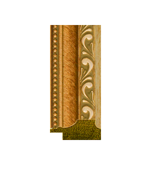 """EL10023 - 1 1/4"""" Antique Gold With Beaded Lip and Gray Wash"""