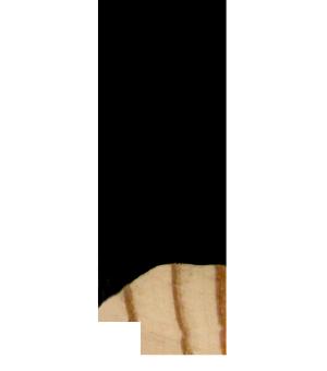 """LL953 - 3/4"""" Black Suede"""