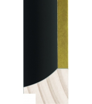 "MA401-290 - 1 1/8"" Black & Gold"